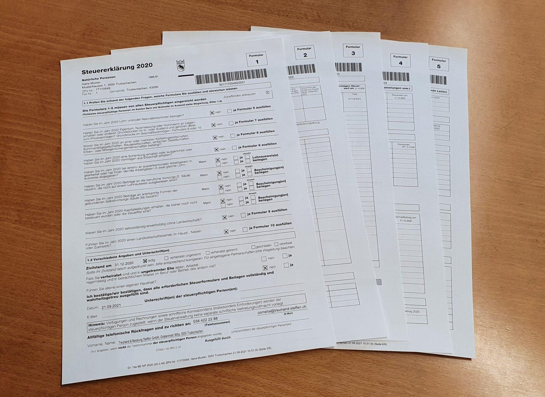 Steuererklärungsformulare
